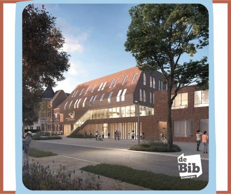 Het nieuwe gebouw van de bib