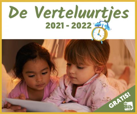 Promo afbeelding voor de Verteluurtjes van 2021-2022 in bib Grimbergen