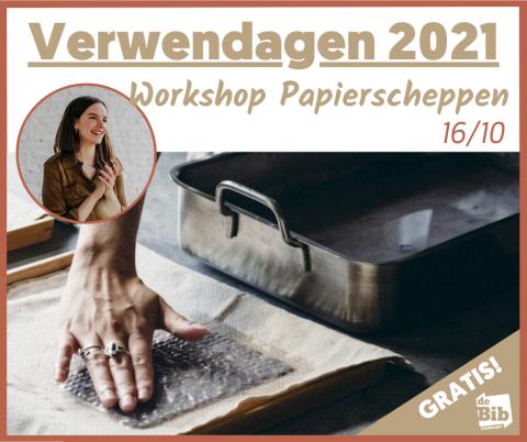 Promo workshop papierscheppen bib Grimbergen 2021